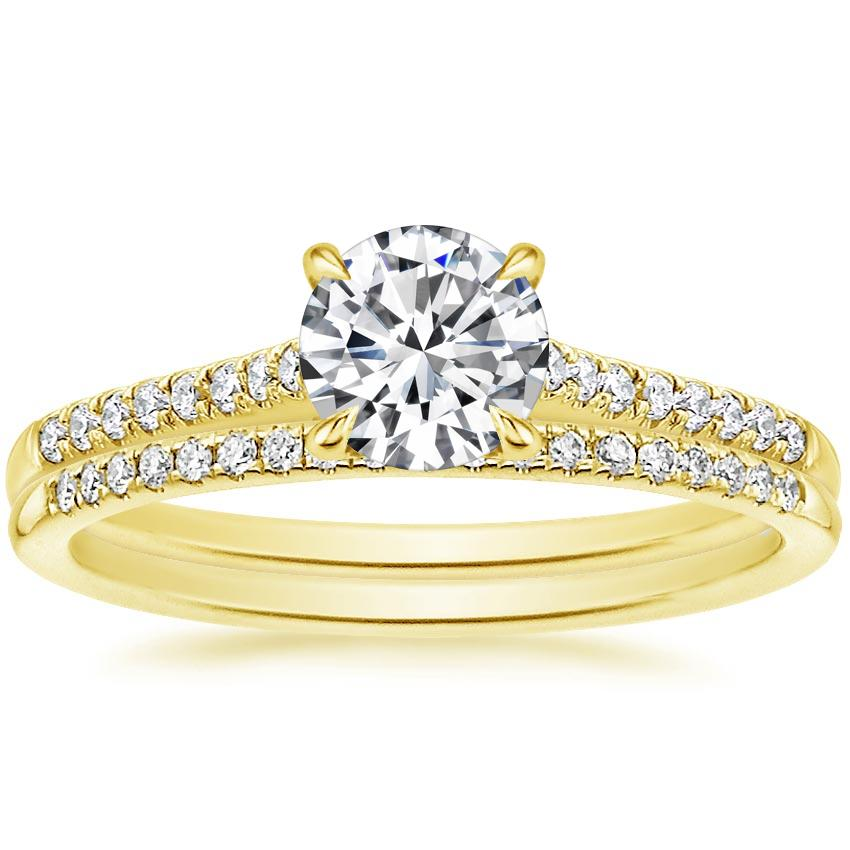 18K Yellow Gold Lissome Diamond Ring (1/10 ct. tw.) with Whisper Diamond Ring