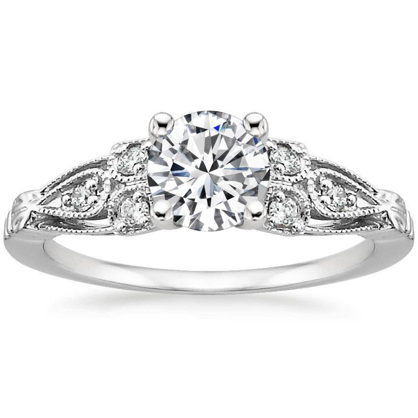 18K White Gold Rosabel Diamond Ring, top view