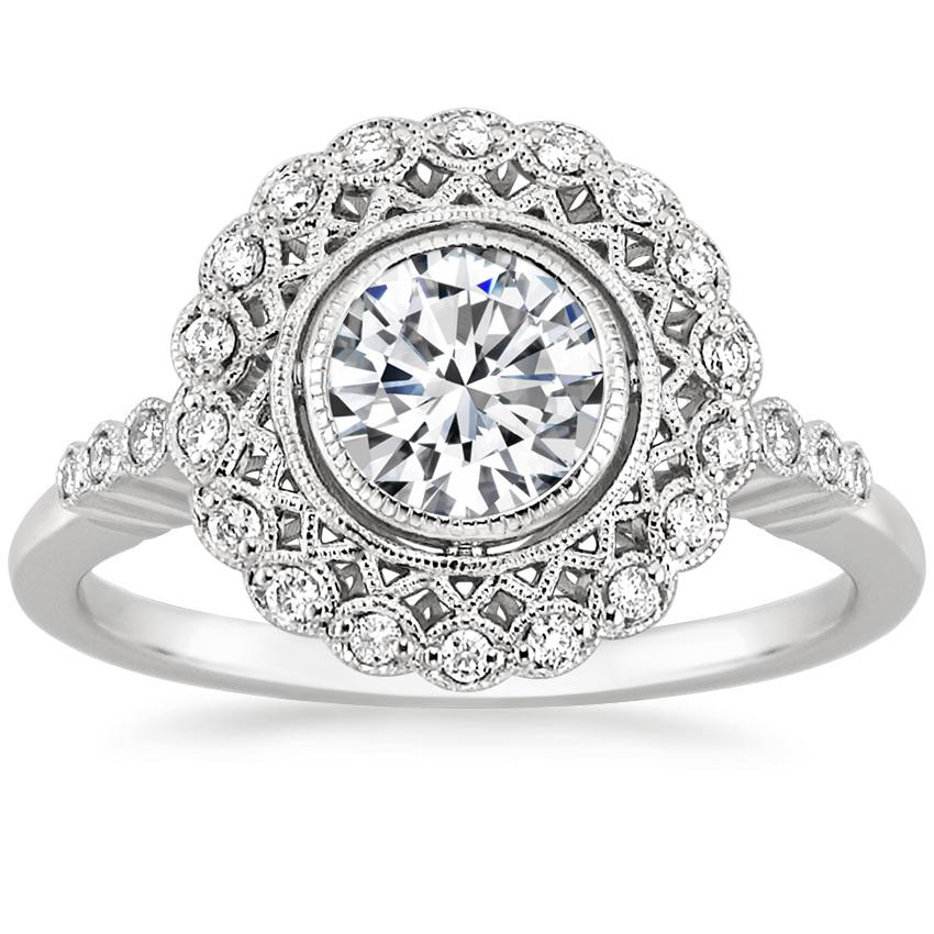 Round Platinum Alvadora Diamond Ring