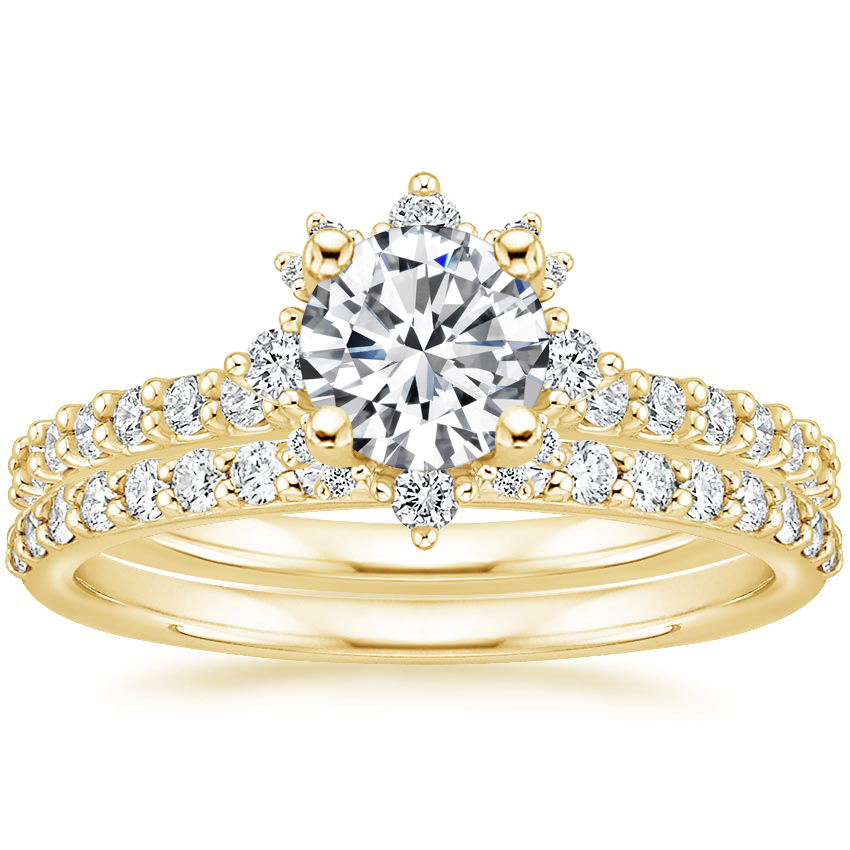 18K Yellow Gold Arabella Diamond Bridal Set (1/2 ct. tw.)