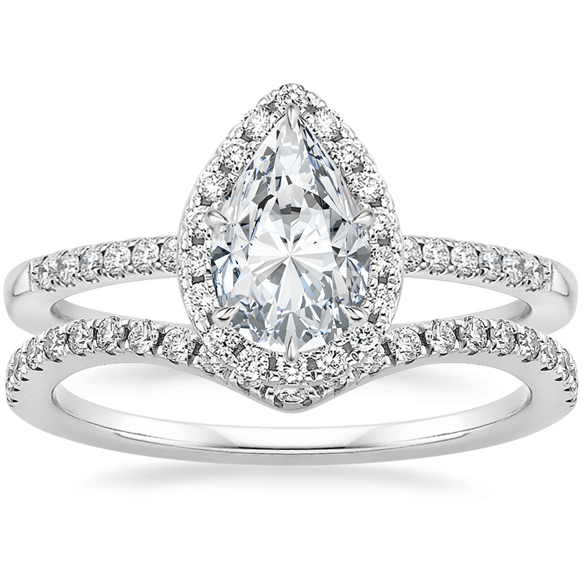 Platinum Cambria Diamond Ring (1/4 ct. tw.) with Flair Diamond Ring