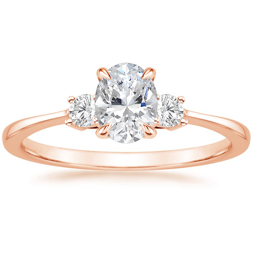 Oval 14K Rose Gold Selene Diamond Ring