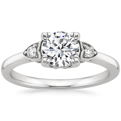 Platinum Aria Diamond Ring, top view