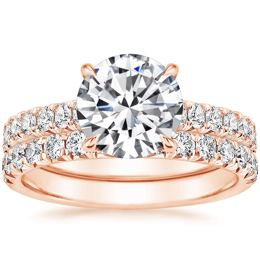 14K Rose Gold Sienna Diamond Bridal Set (7/8 ct. tw.)