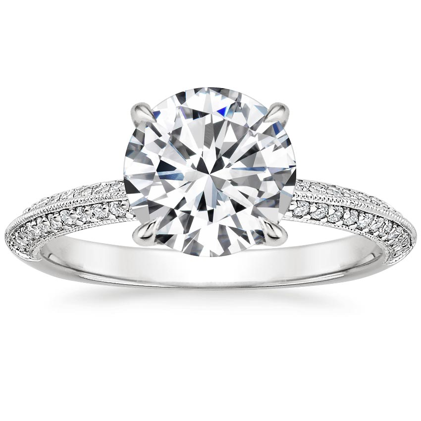 Round Platinum Callista Diamond Ring