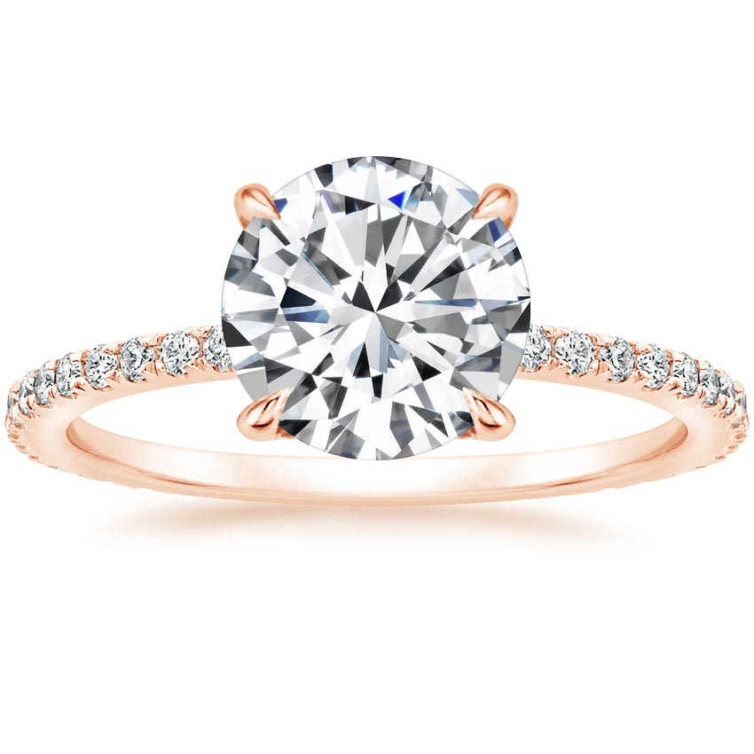 Round 14K Rose Gold Demi Diamond Ring (1/3 ct. tw.)