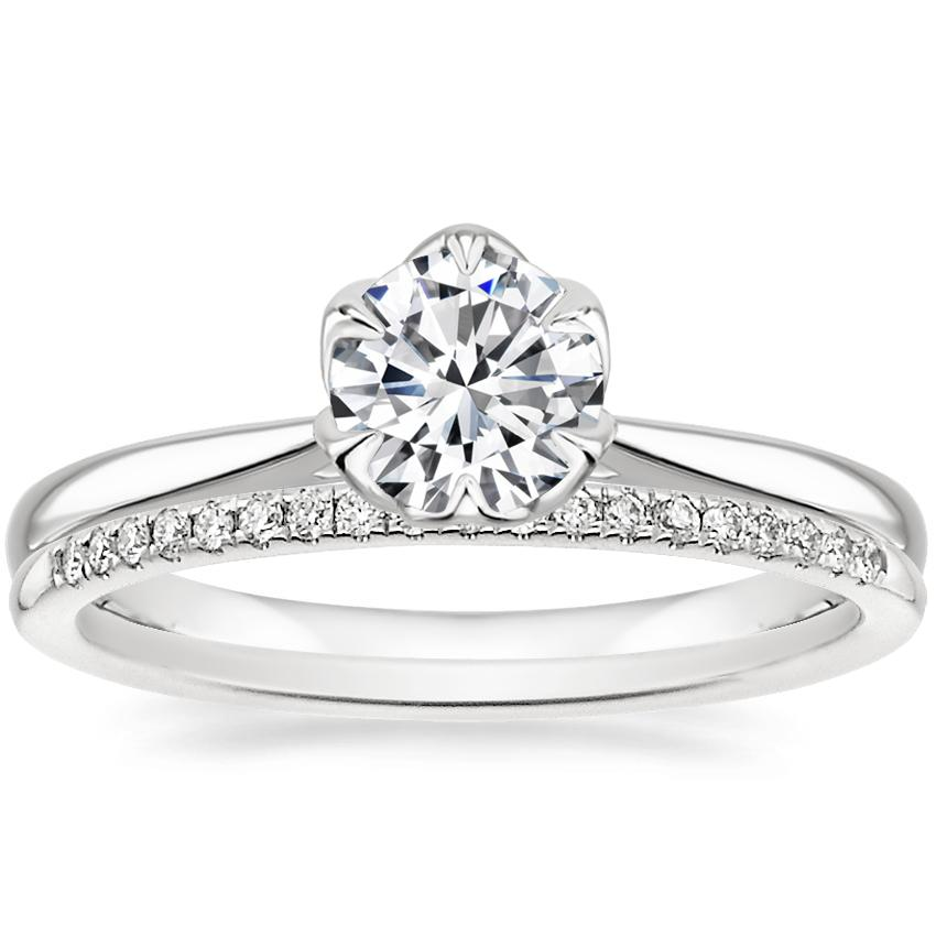 18K White Gold Caliana Ring with Whisper Diamond Ring (1/10 ct. tw.)