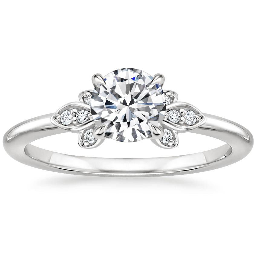 Round 18K White Gold Fiorella Diamond Ring