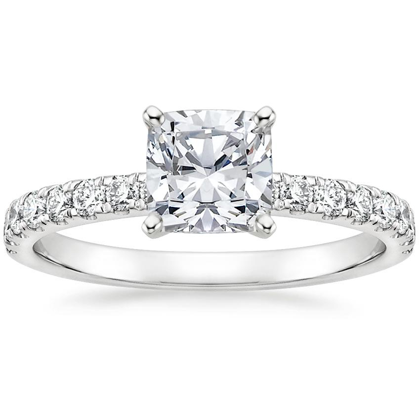 Cushion Pavé Diamond Engagement Ring