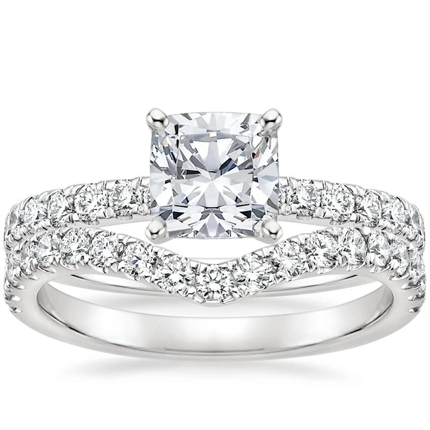 Platinum Constance Diamond Ring (1/3 ct. tw.) with Luxe Flair Diamond Ring (1/3 ct. tw.)