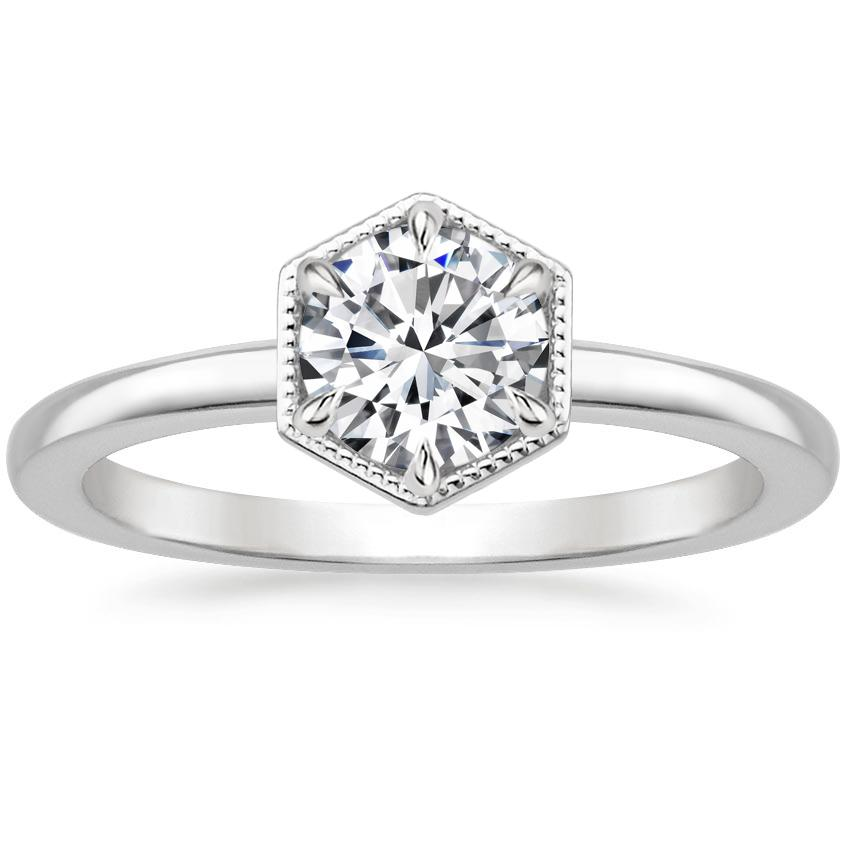 Round Hexagon Engagement Ring