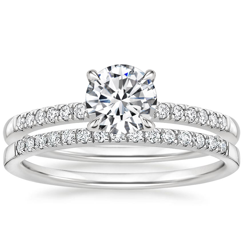 18K White Gold Petite Viviana Diamond Bridal Set (1/4 ct. tw.)