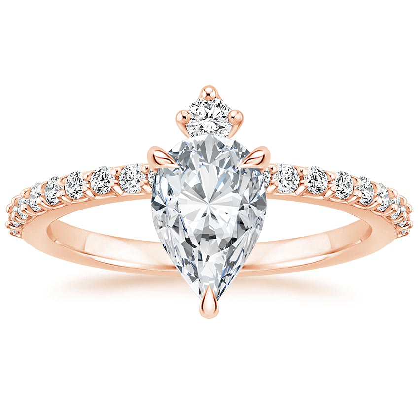 Pear 14K Rose Gold Amante Diamond Ring (1/4 ct. tw.)
