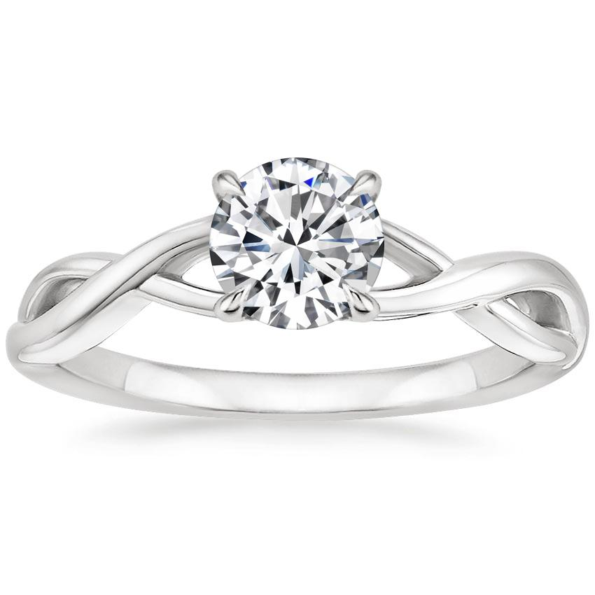 Round Platinum Eden Diamond Ring
