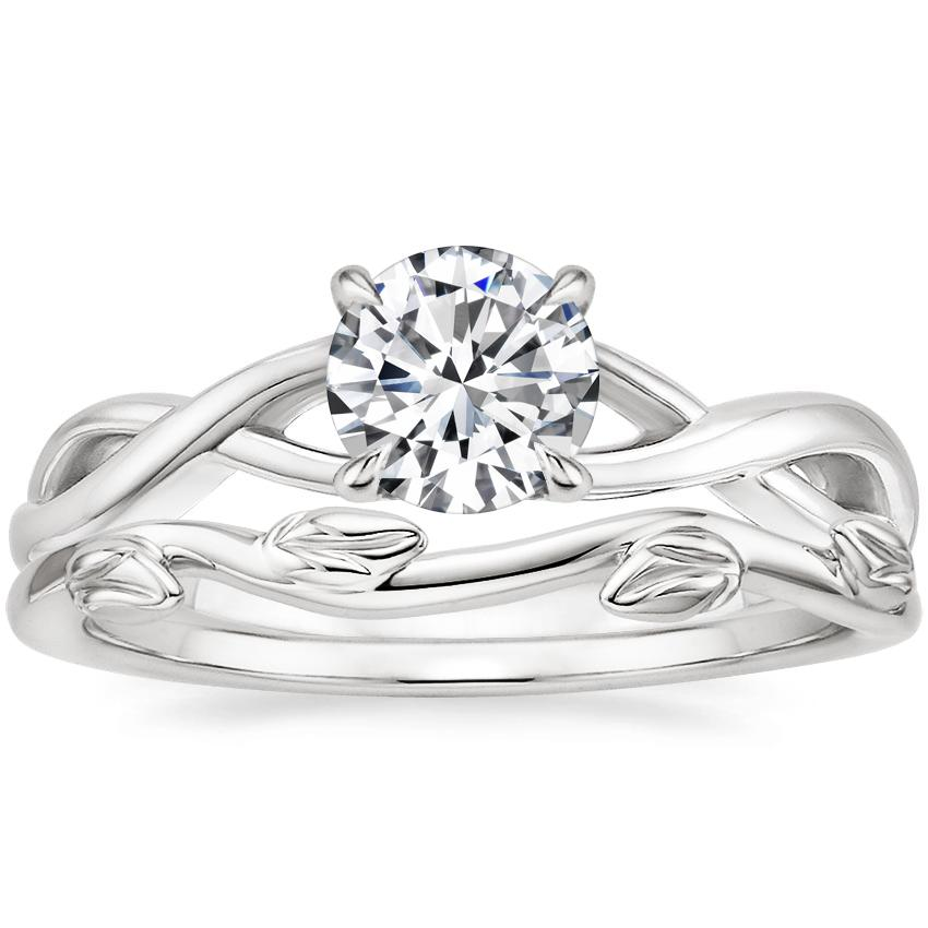 Platinum Eden Diamond Ring with Winding Willow Ring