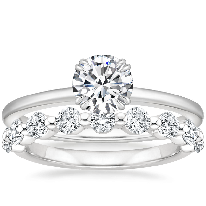 Platinum Sora Diamond Ring with Monaco Lab Diamond Ring (3/4 ct. tw.)