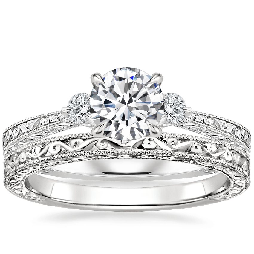 18K White Gold Bristol Diamond Ring with Hudson Ring