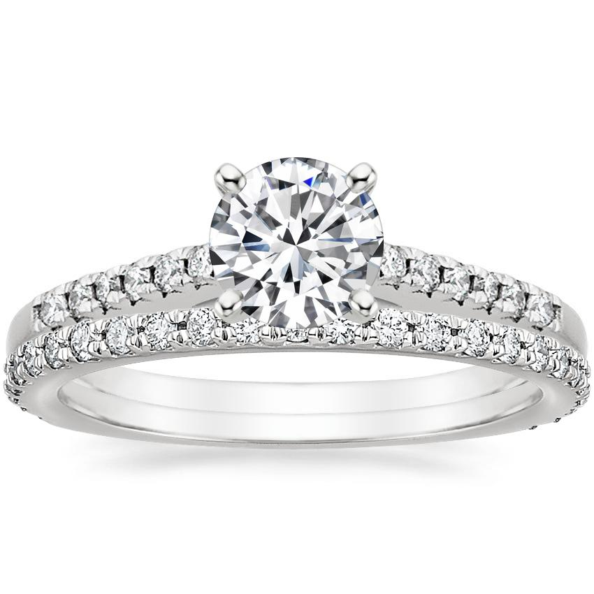 18K White Gold Sonora Diamond Ring with Luxe Sonora Diamond Ring (1/4 ct. tw.)
