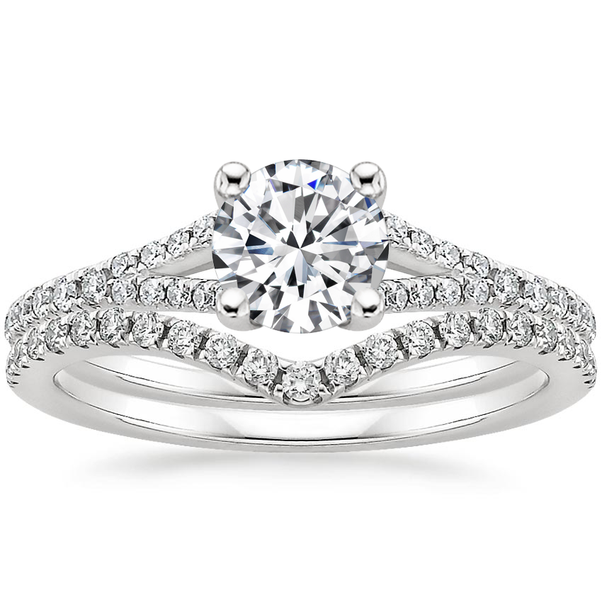 18K White Gold Flair Diamond Bridal Set (1/3 ct. tw.)