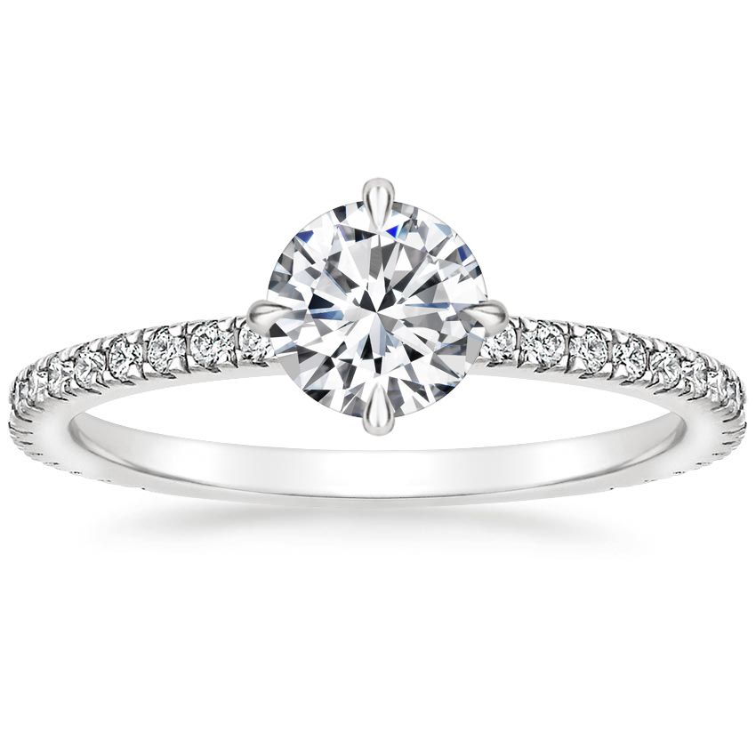 Round Platinum Polaris Diamond Ring