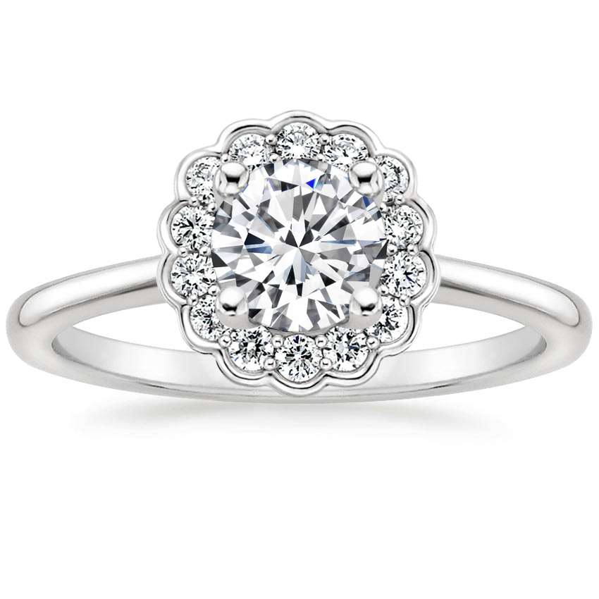 Round Platinum Violette Diamond Ring