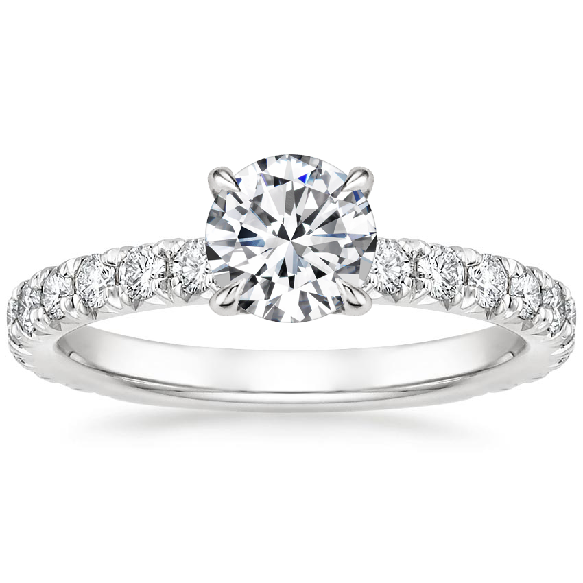 Round Platinum Olympia Diamond Ring
