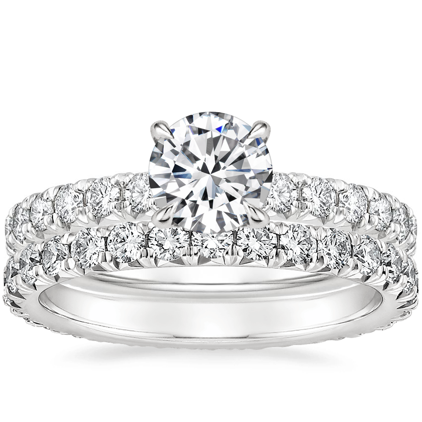 Platinum Olympia Diamond Ring with Sienna Eternity Diamond Ring (7/8 ct. tw.)
