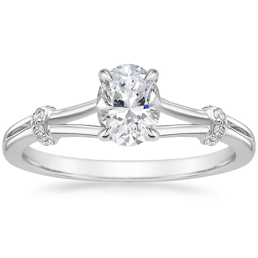 Oval 18K White Gold Odelia Diamond Ring