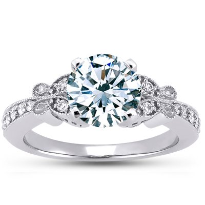 Platinum Monarch Diamond Ring, top view
