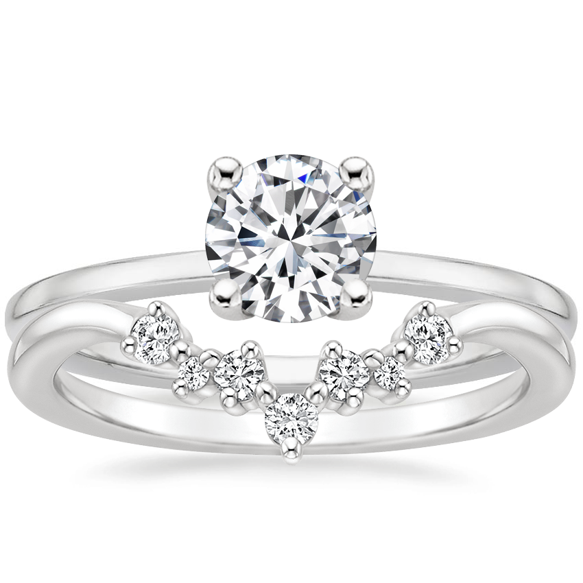 18K White Gold Haven Diamond Ring with Caris Diamond Ring