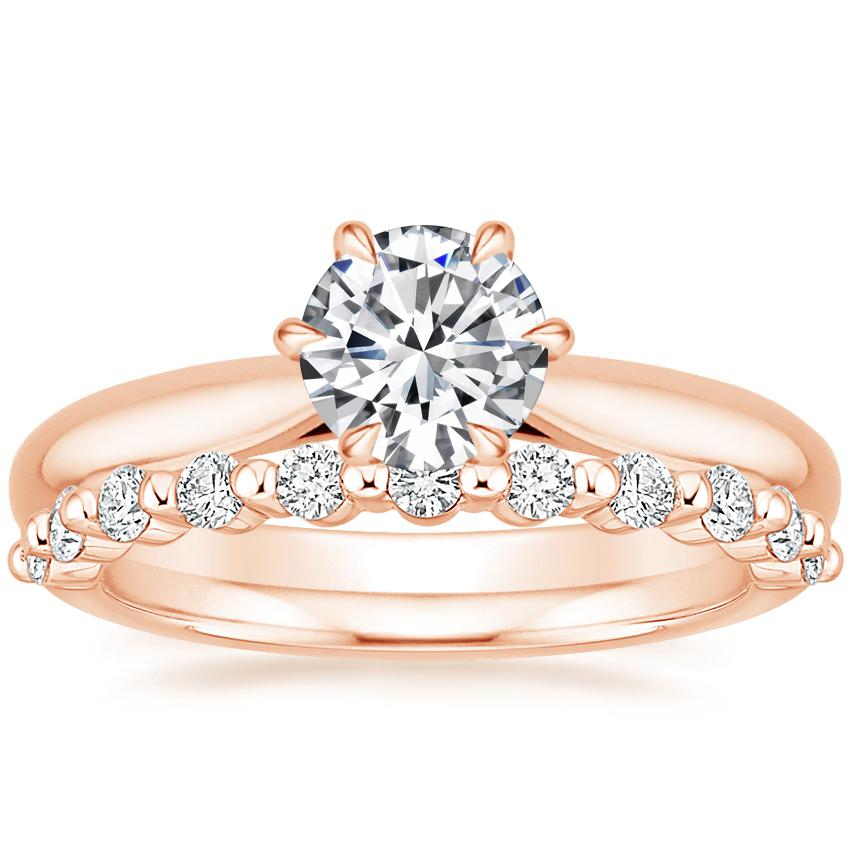 14K Rose Gold Catalina Ring with Marseille Diamond Ring (1/3 ct. tw.)