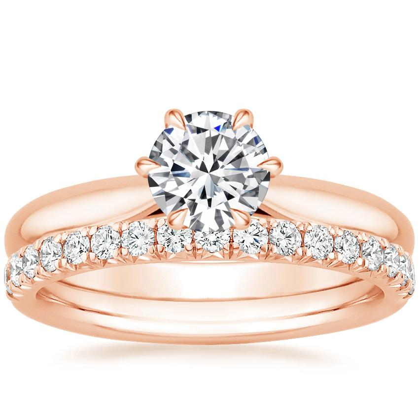 14K Rose Gold Catalina Ring with Amelie Diamond Ring (1/3 ct. tw.)