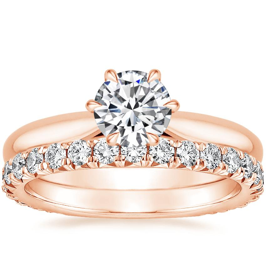 14K Rose Gold Catalina Ring with Luxe Sienna Diamond Ring (5/8 ct. tw.)