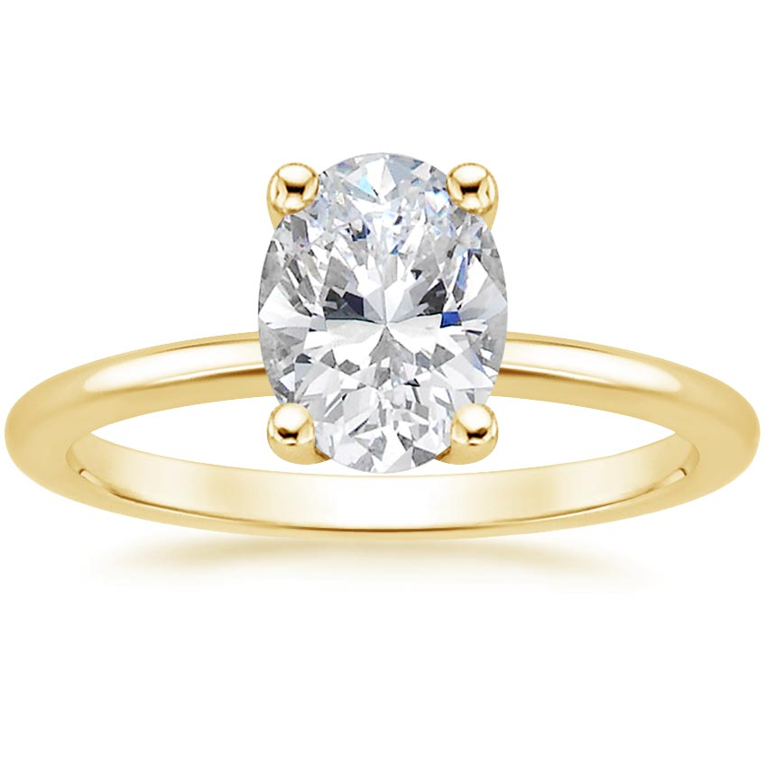 Oval 18K Yellow Gold Perfect Fit Diamond Ring