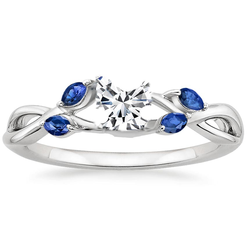 sapphire gold vine white p ct rings ring diamond nature inspired rose engagement product