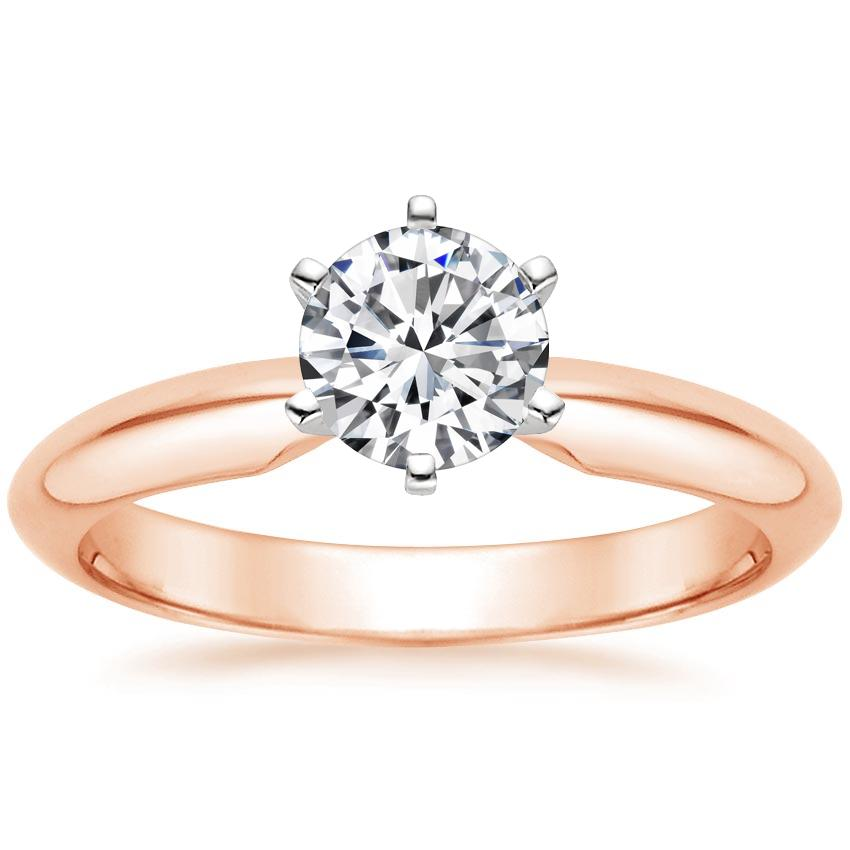 Rose Gold Six-Prong Classic Ring