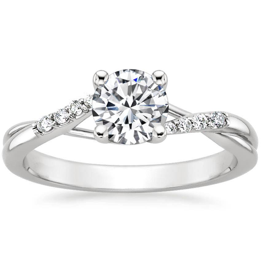 Platinum Chamise Diamond Ring, top view