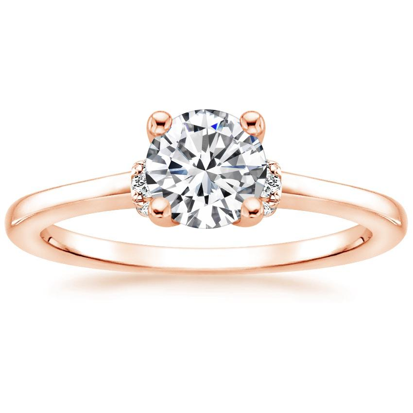 Round 14K Rose Gold Leighton Diamond Ring