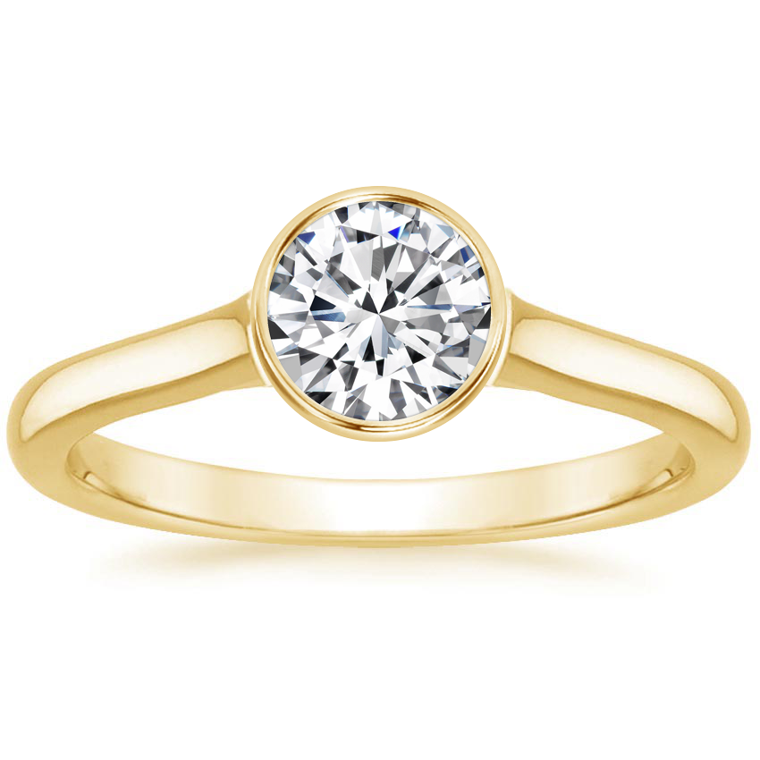 Round Bezel Set Engagement Ring