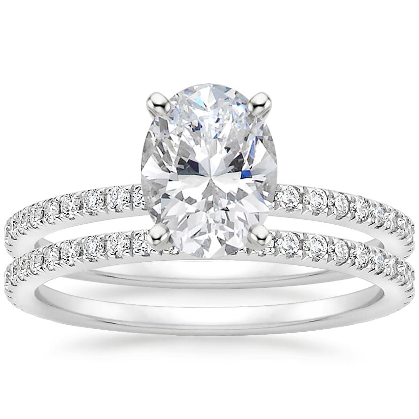 18K White Gold Luxe Ballad Bridal Set (1/2 ct. tw.)