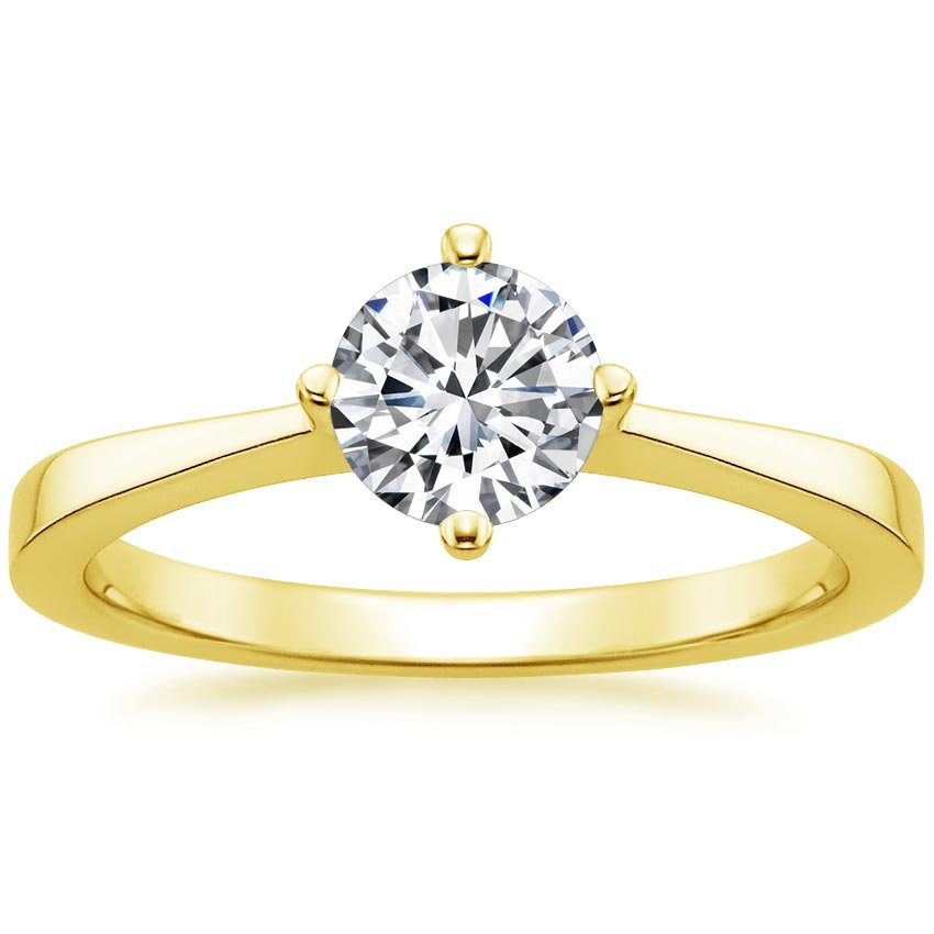 18K Yellow Gold True North Ring, top view