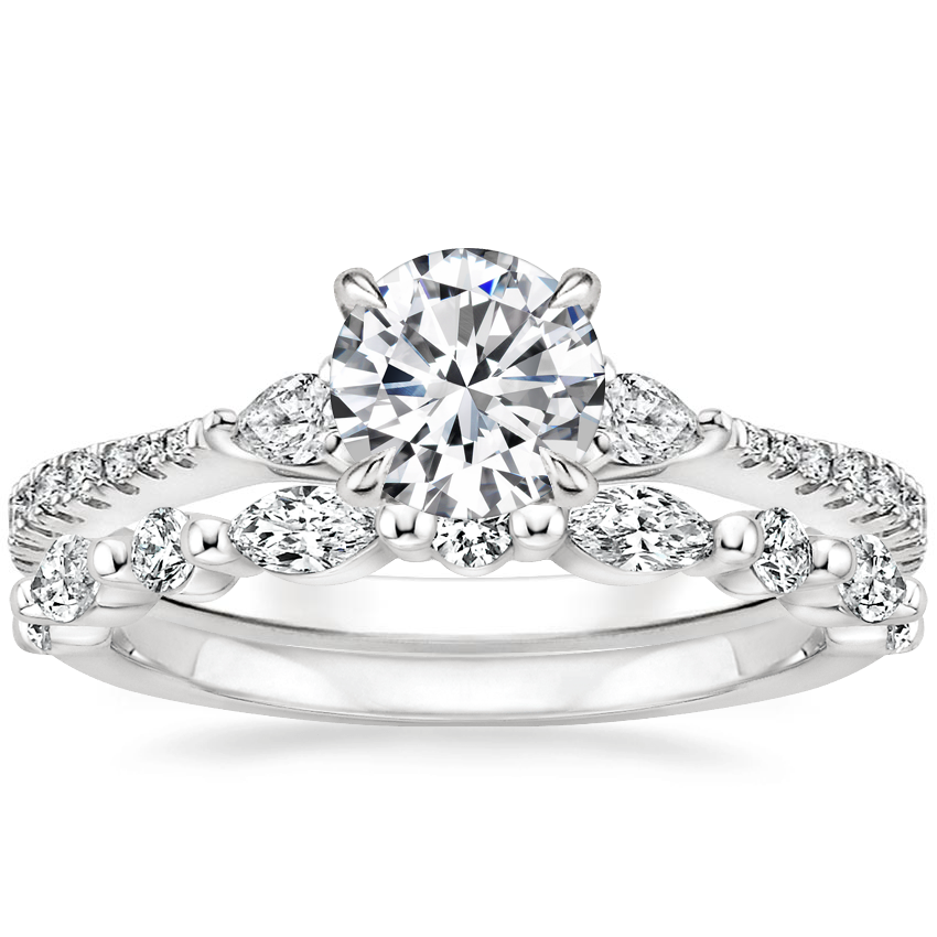 Platinum Luxe Aria Diamond Ring with Versailles Diamond Ring (3/8 ct. tw.)