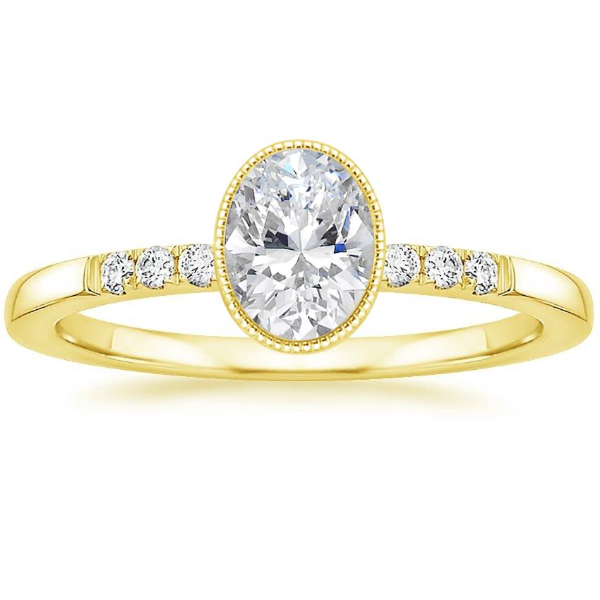 Oval 18K Yellow Gold Imogen Diamond Ring