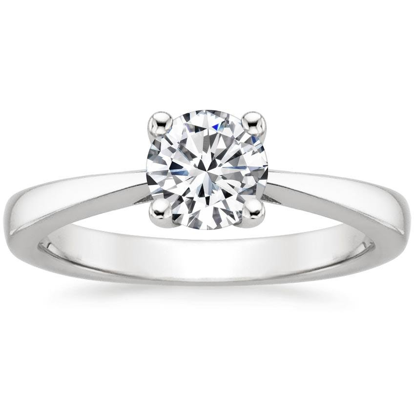 Platinum Petite Tapered Trellis Ring, top view