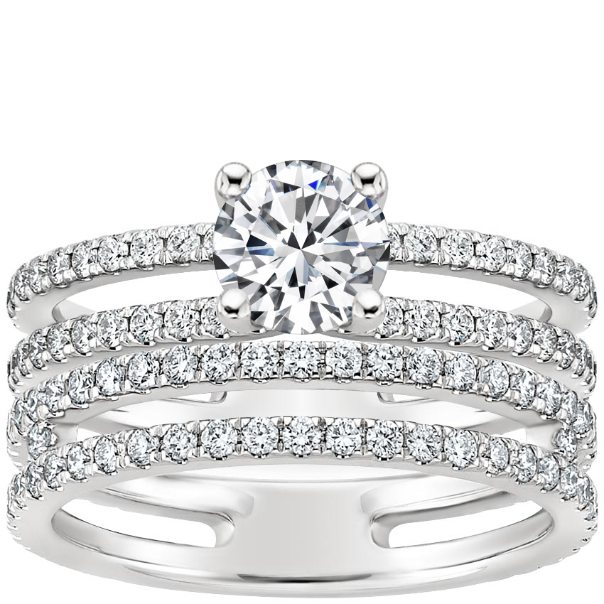 18K White Gold Linnia Diamond Bridal Set (1 ct. tw.)