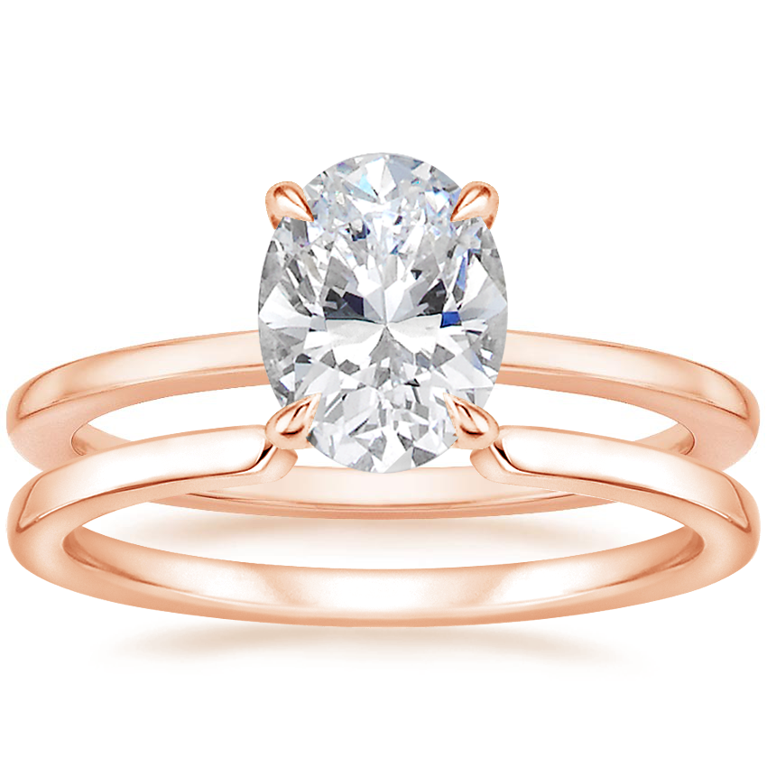 14K Rose Gold Lumiere Diamond Ring with Liv Wedding Ring