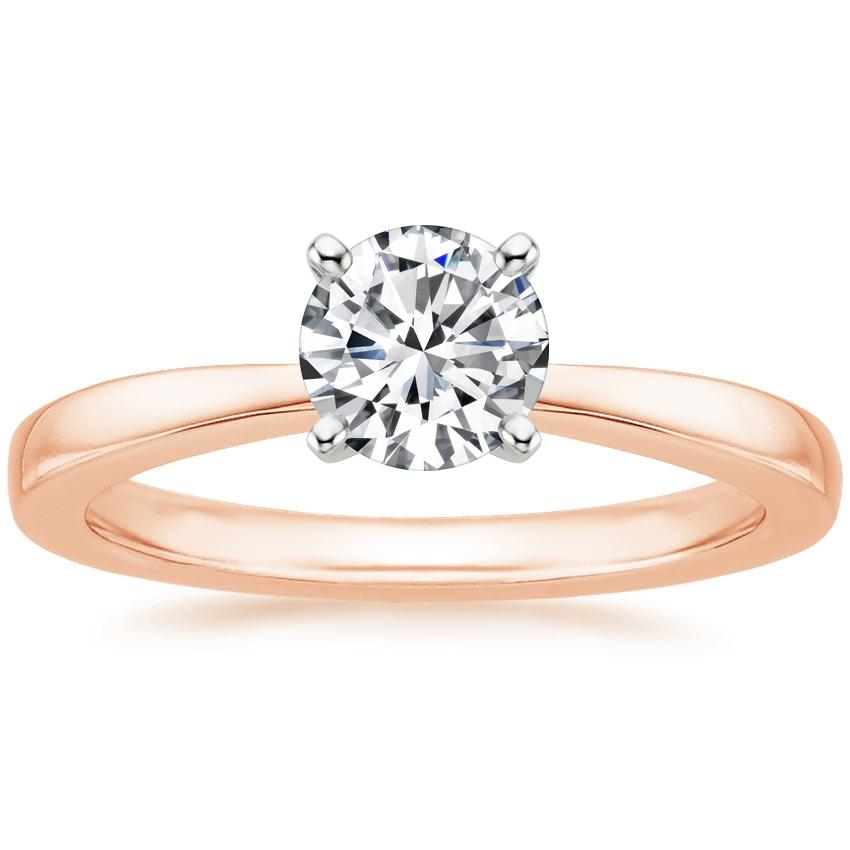 Round 14K Rose Gold Petite Taper Ring