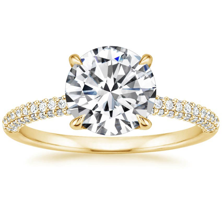 Round 18K Yellow Gold Valencia Diamond Ring (1/3 ct. tw.)