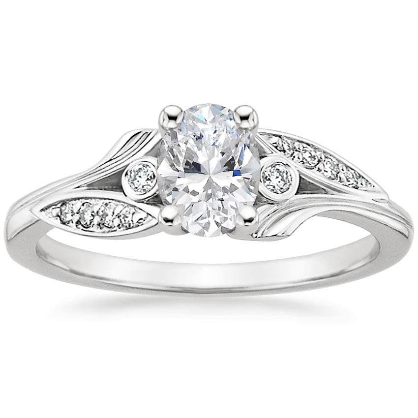 Oval Platinum Jasmine Diamond Ring