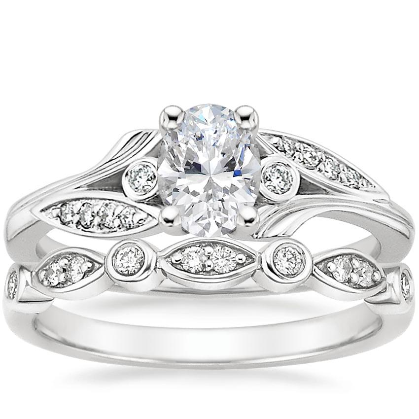 Platinum Jasmine Diamond Ring with Coronet Diamond Ring